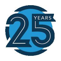 EBC 25 years logo