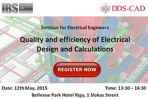 Quality and efficiency of Electrical design and calculations_Seminar_Intelligent BIM Solutions_DDS-CAD_Banner 300x200