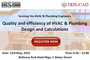 Quality and efficiency of HVAC & Plumbing design and calculations_Seminar_Intelligent BIM Solutions_DDS-CAD_Banner 300x200